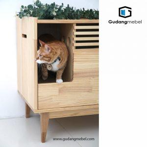 kandang kucing kayu